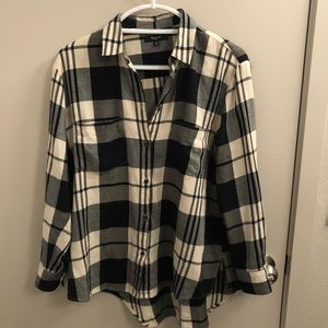 Madewell Oversized Plaid Boyfriend button Down